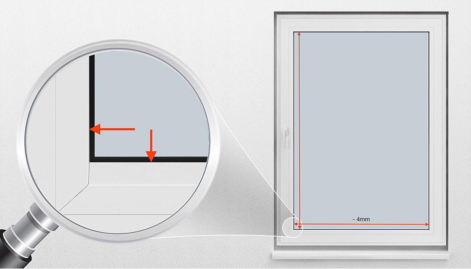 Hervorragend Fenster richtig messen für Maßanfertigung: Plissee Messen AK33
