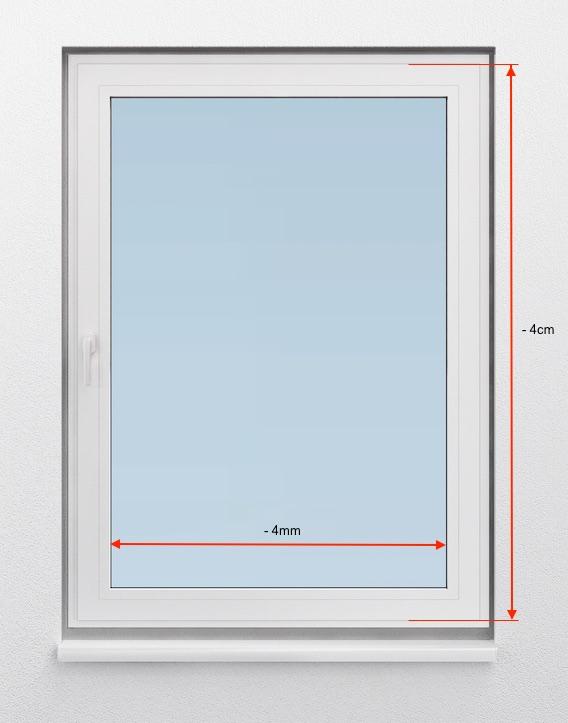 Gut gemocht Messanleitung für Plissees in der Glasleiste mit Clip ohne Bohren RR92